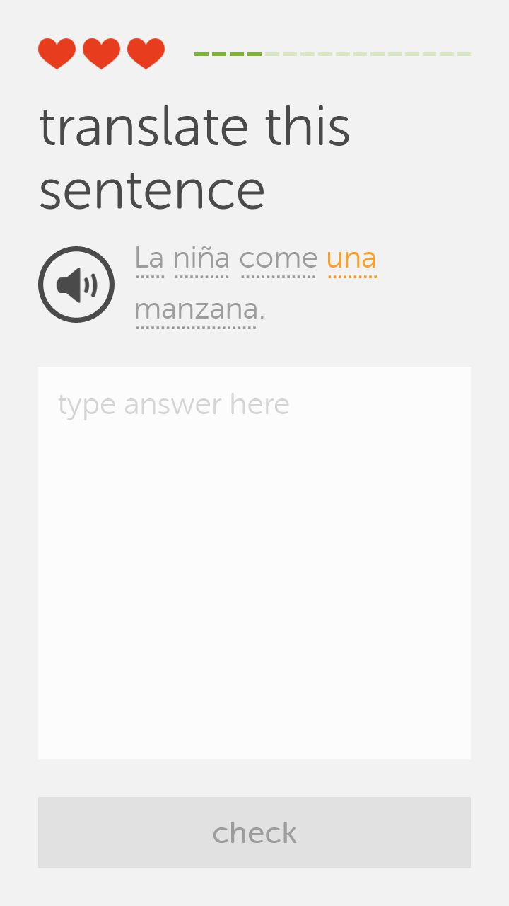 Windows Phone Duolingo Challenge screen