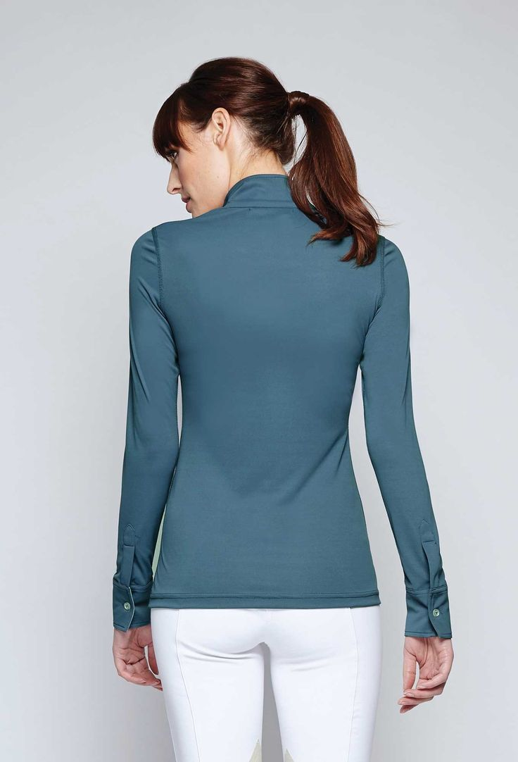 Stand out this fall in the Standard Convertible Polo from Asmar Equestrian. Seen here in Twilight and available in Fog and Shadow.