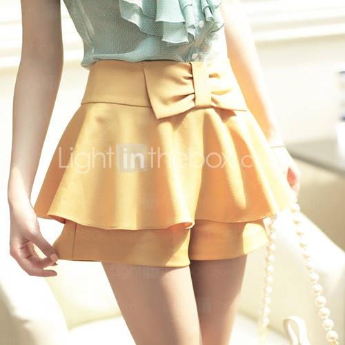 Bow Skirt Pants