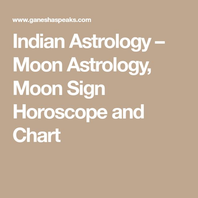 Indian Astrology – Moon Astrology, Moon Sign Horoscope and Chart