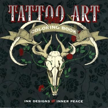 Tattoo Art Coloring Book: Ink Designs for Inner Peace. These 92 magnificent designs—from elaborately detailed elephants to skulls, dragons, and eagles—just beg to be colored in. Use them for meditative downtime . or to inspire a real tattoo Kunst Tattoos, Tattoo Drawings, Tattoo Art, Wrist Tattoo, Adult Coloring, Coloring Books, Coloring Pages, Coloring Stuff, Colouring