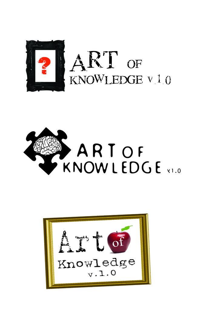 Art of  Knowledge App Logo Design