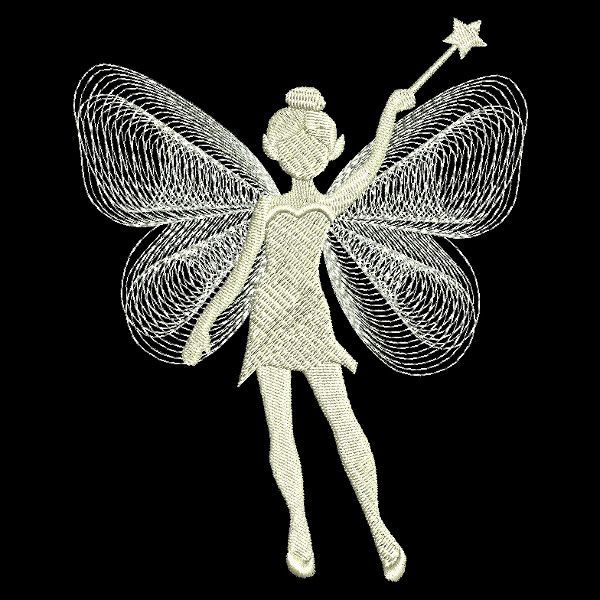 jef pes dst sew hus vp3 exp xxx Fantasy Fairy Embroidery Design