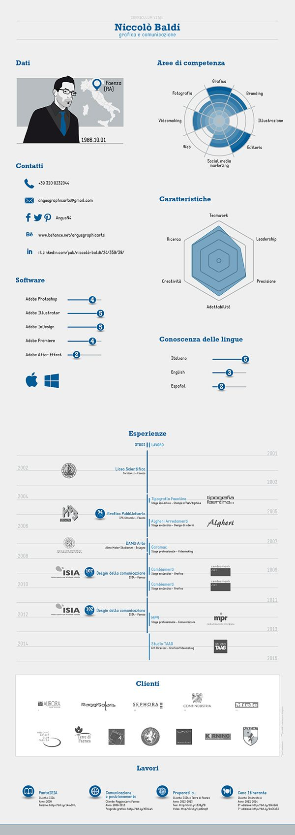 Infographic - Curriculum vitae on Behance