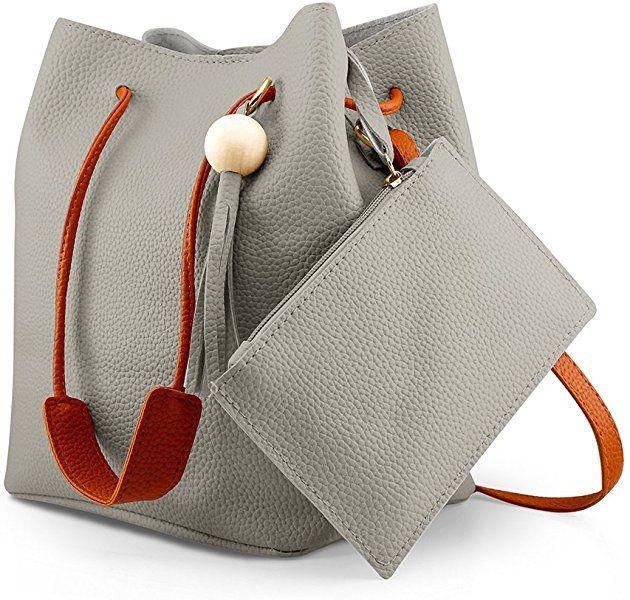 cd3c1cde94bc Amazon.com: Oct17 Fashion Tassel buckets Tote Handbag, Women ...