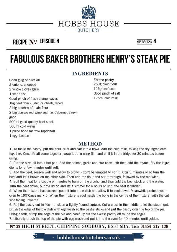 The Fabulous Baker Brothers: Henry's Steak Pie - Hobbs House Bakery - Episode 4