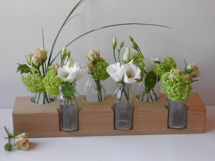 Blumenvase, *7*, Blumenwiese, Buche,Vase, Holzvase