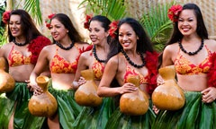 Disney's Polynesian Resort - Spirit of Aloha Show.  Cuisine: Polynesian  Share an all-you-care-to-eat, family-style dinner and watch a live, South Pacific-inspired show in an open-air theater that features hula dancers and a fire-knife performer.