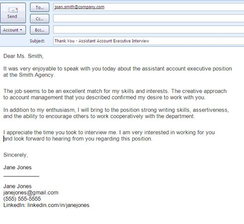 http://jobsearch.about.com/od/jobsearchemailsamples/ig/Email-Message-Examples/Email-Thank-You-Message.-61K.htm