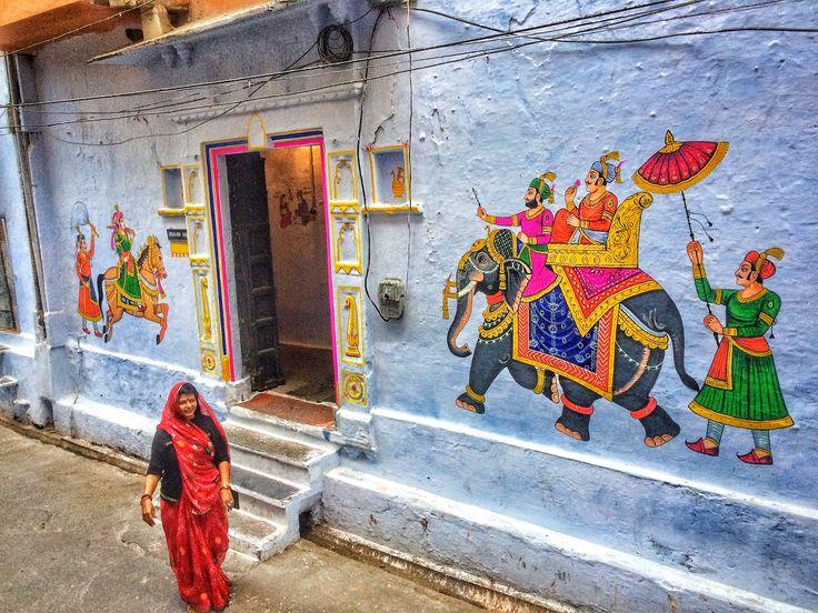 Wedding frescoes, Udaipur