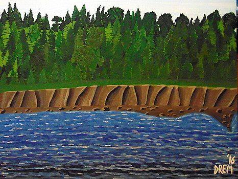 Rugged Maitland Shore Nova Scotia by David Manicom