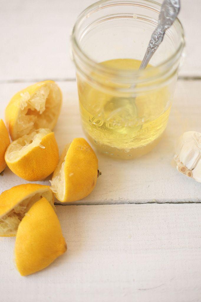lemon vinaigrette~ juice of 4 lemons; 3 garlic cloves/minced; 1/2 c ...