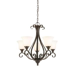 Hampton Bay, 5-Light Oil Rubbed Bronze Chandelier, IAY8115A-4 at The Home Depot - Mobile
