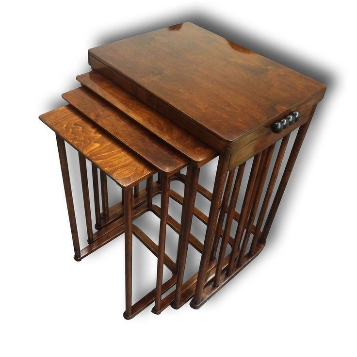 Tables  by Josef Hoffmann - Fa. J. a J. Kohn, www.aantik.cz