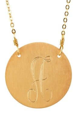 Danielle Stevens Initial Disc Pendant Necklace - More Letters Available