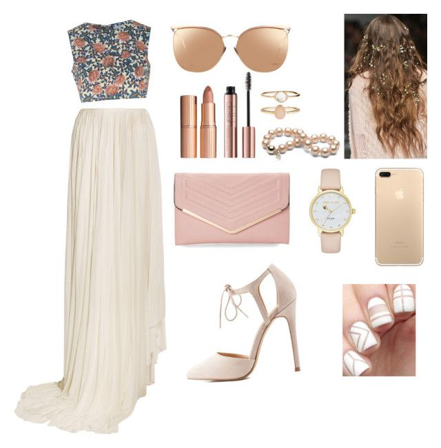 """""""lovely"""" by jenifferalves on Polyvore featuring Vionnet, Glamorous, Charlotte Russe, Kate Spade, Sasha, Linda Farrow, Charlotte Tilbury and Accessorize"""
