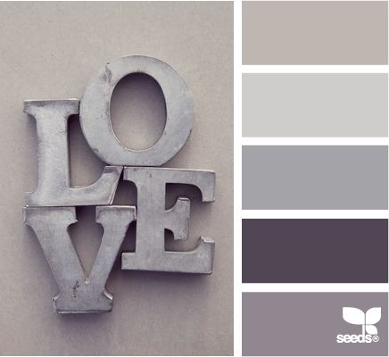 love tones - I <3 the tone on tone. Would be really cool in a house with a bright, warm accent color like yellow