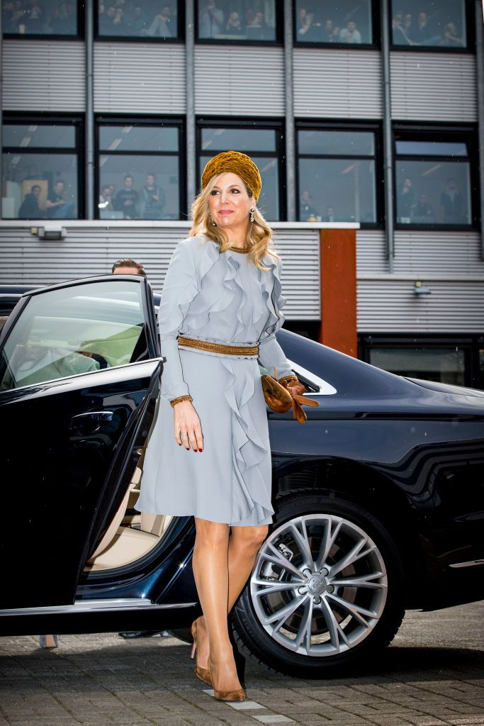 Queen Maxima Of The Netherlands Visits The Roc Mondriaan Technical Queen Maxima Queen Maxima Of The Netherlands Queen