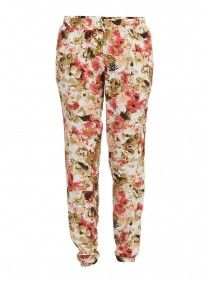 Floral Printed Cotton Pants Multi-colour