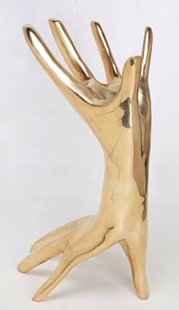 KELLY WEARSTLER | DICHOTOMY SCULPTURE. Signature double hand surreal art