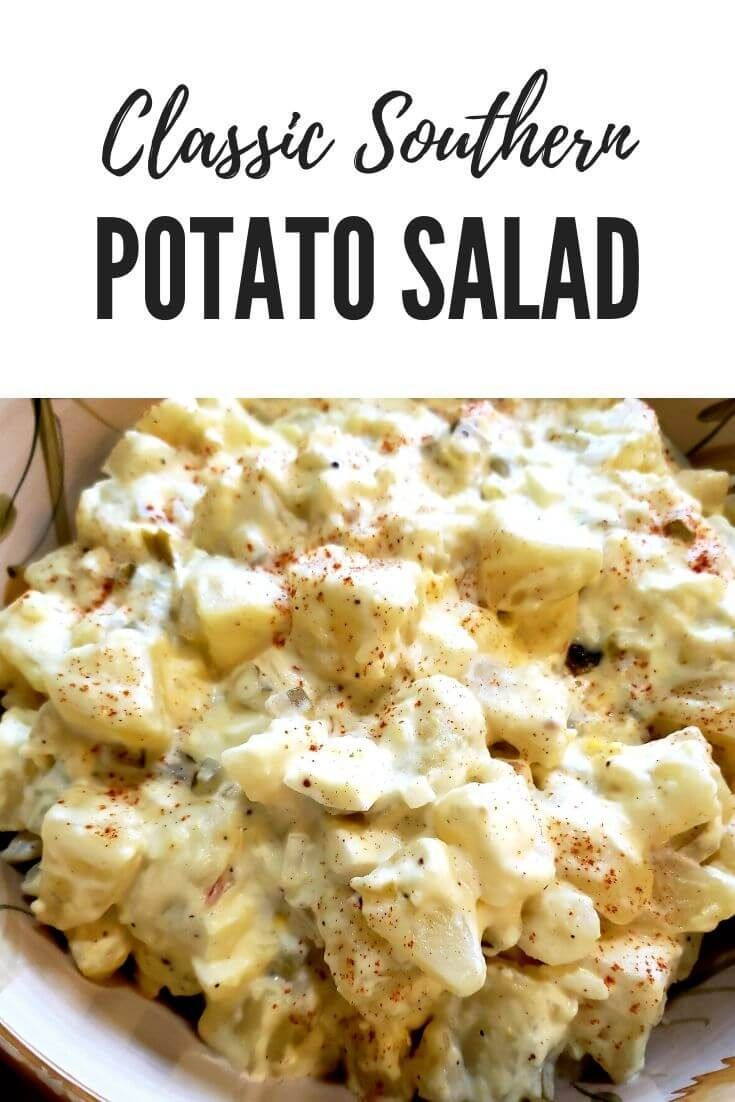 Southern Potato Salad With Dill Pickles