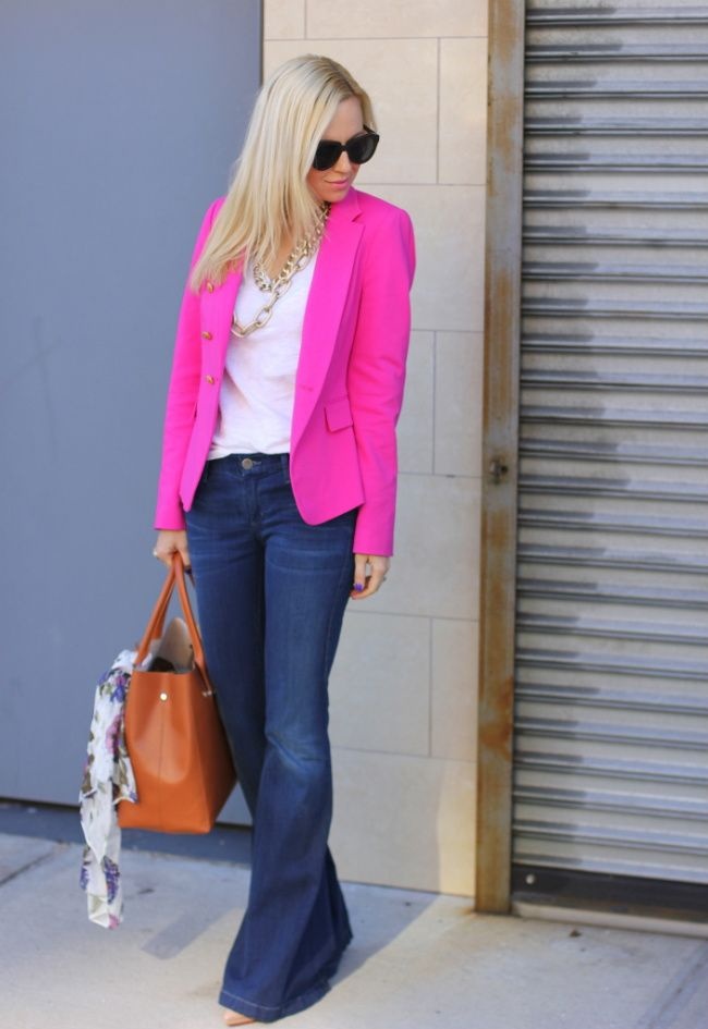 LOVE this neon pink blazer. I used to have one back in 1992 but got rid of it. Wish I would have kept it :(
