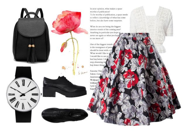 """""""Romantic Monochrome"""" by cs1gusz on Polyvore featuring LoveShackFancy, I Don't Care and Rosendahl"""