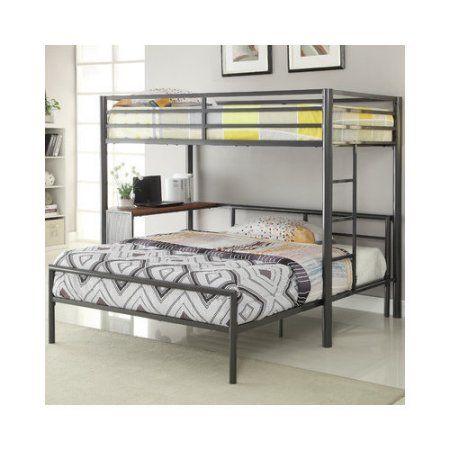 Bundle-80 Wildon Home   Twin Over Full L-Shaped Bunk Bed - Walmart.com