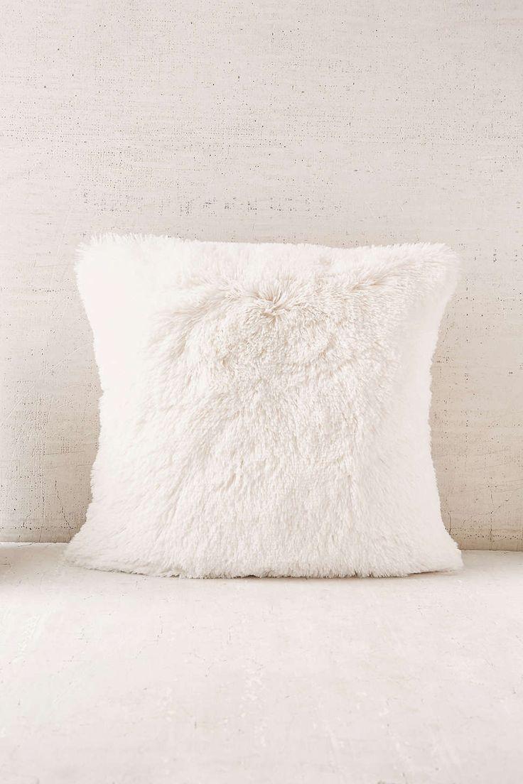 Plum & Bow Faux Fur Pillow