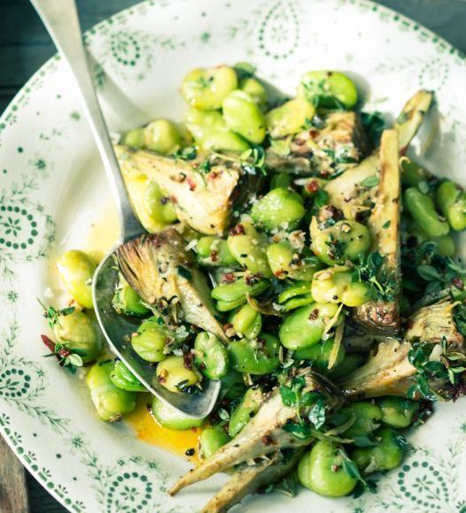 Dicke-Bohnen-Salat mit Artischocken