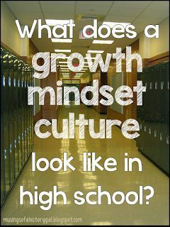 What does Growth Mindset look like in high school?