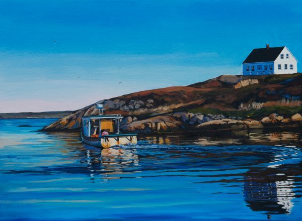 """Gone fishing"" 18X24 acrylic, $995, available at Teichert gallery in Halifax, NS"