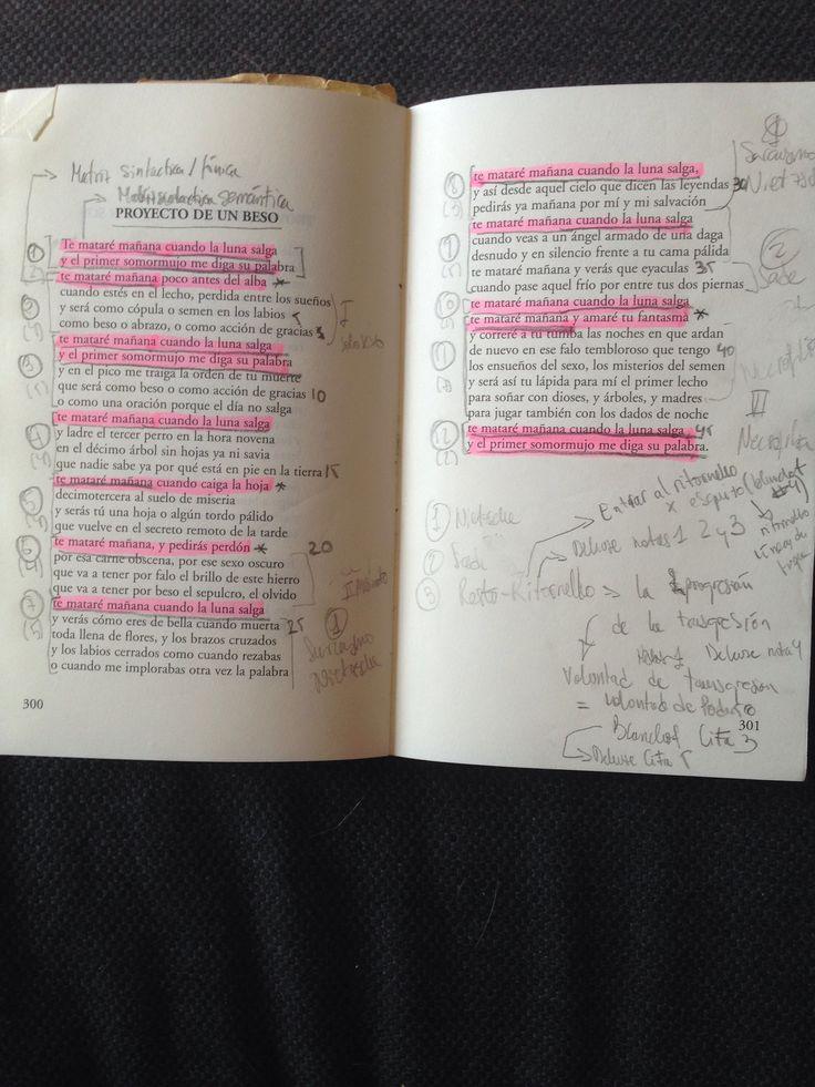 """Leopoldo María Panero's """"Proyecto de un beso"""" after working on it for this paper: https://www.academia.edu/4308791/Funcionamiento_del_Ritornelo_en_Proyecto_de_un_beso_de_Leopoldo_Maria_Panero"""