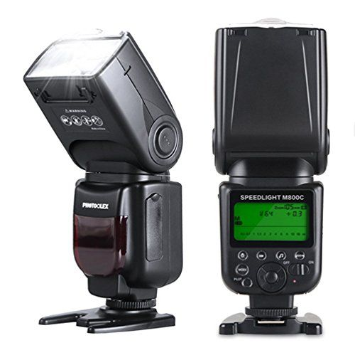 Photoolex M800C 1/8000s Flash Speedlite 580EX II TTL Speedlight for Canon 1Ds Mark III, 1Ds Mark II, 1D Mark IV, 1D Mark III EOS 700D 650D and Other Canon Digital DSLR Cameras