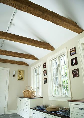29 best kitchen sloped ceiling solutions images on for Adding wood beams to ceiling
