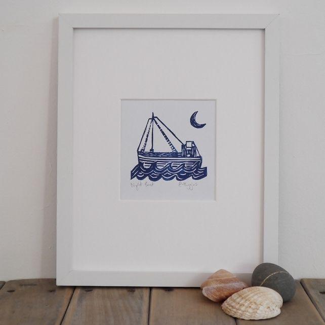 Lino Print Boat Lino Cut £15.00