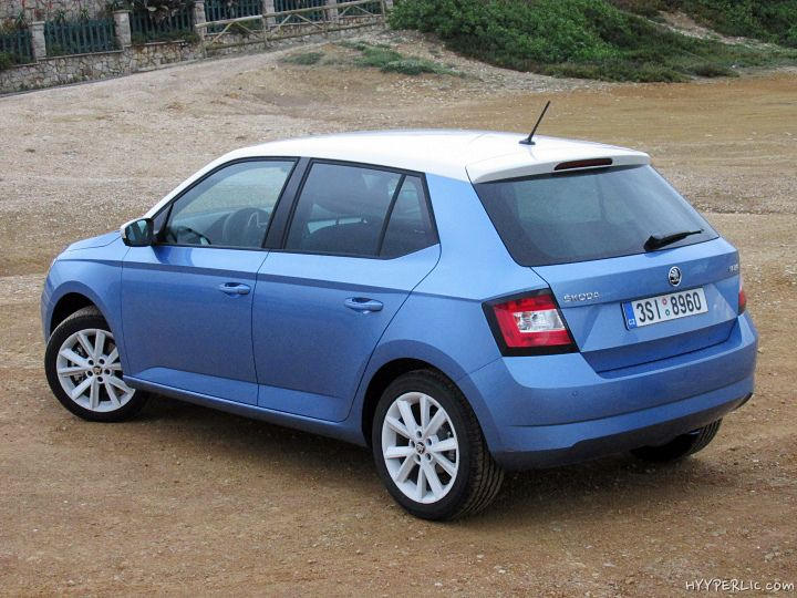 Skoda Fabia 2014/ 2015 Style CC in Denim Blue / Candy White