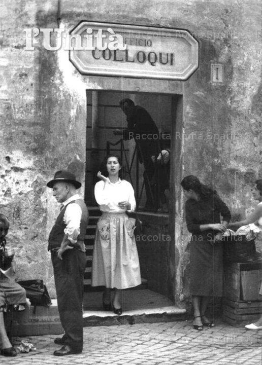 Foto storiche di Roma - Via delle Mantellate. Carcere di Regina Coeli - Ufficio Colloqui Anno: Anni 50'