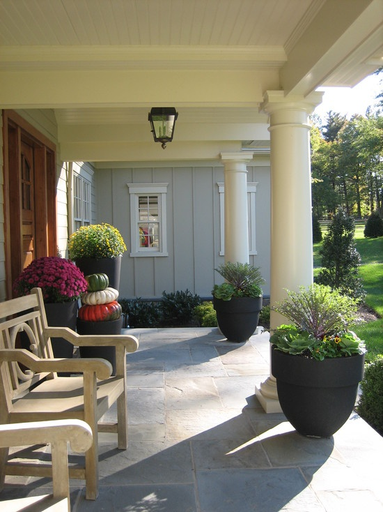 Eclectic Patio Design, Pictures, Remodel, Decor and Ideas - page 2Hills Interiors, Eclectic Patios, Backyards Patios, Arbors Hills, Columns, Porches Ideas, House, Outdoor Spaces, Front Porches