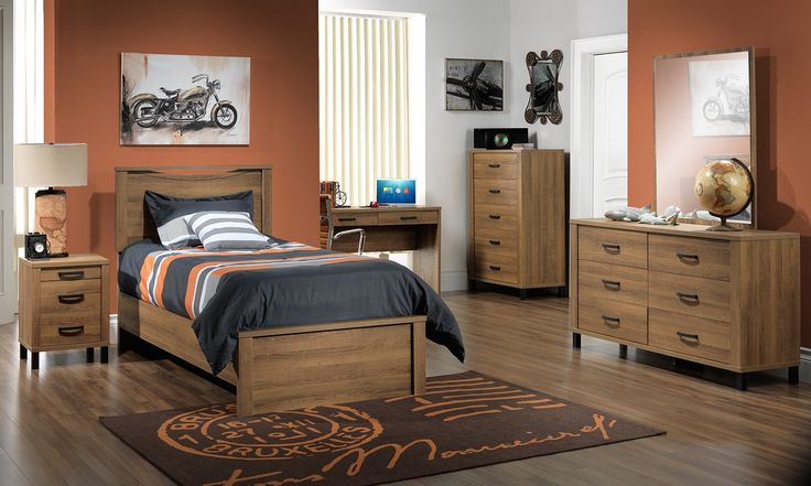 Kids Furniture-The Desert Oak Collection-Desert Oak Twin Bed
