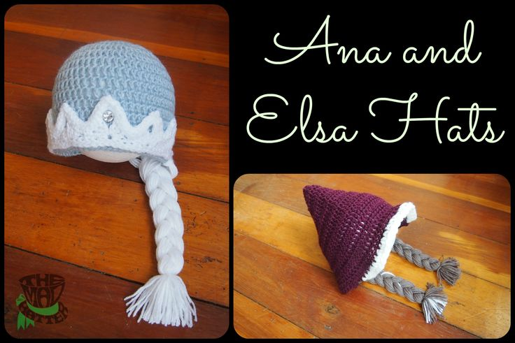 Ana and Elsa Hats. Available in any size. Email themadhatternz@gmail.com