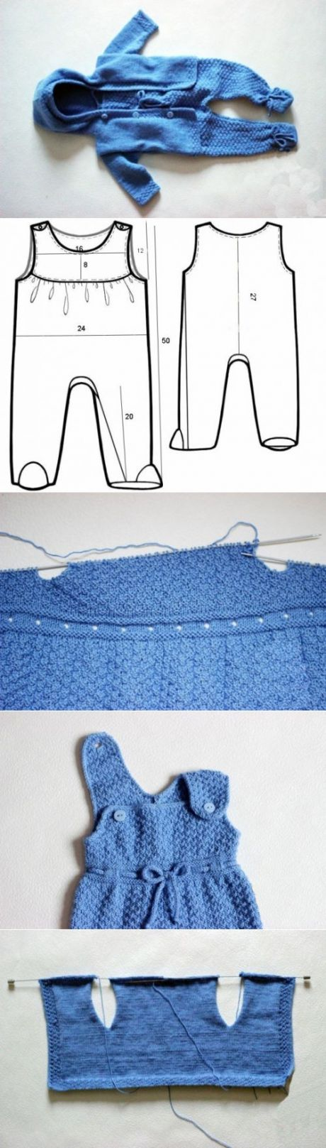 Вязаные костюмы для новорожденных: вязание спицами и крючком + схемы