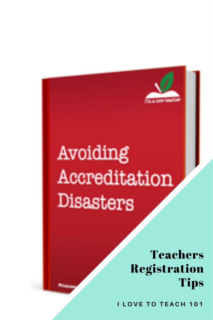 """Teachers Registration Tips - a book review on 'Avoiding Accreditation Disasters' by """"I'm a new teacher""""."""