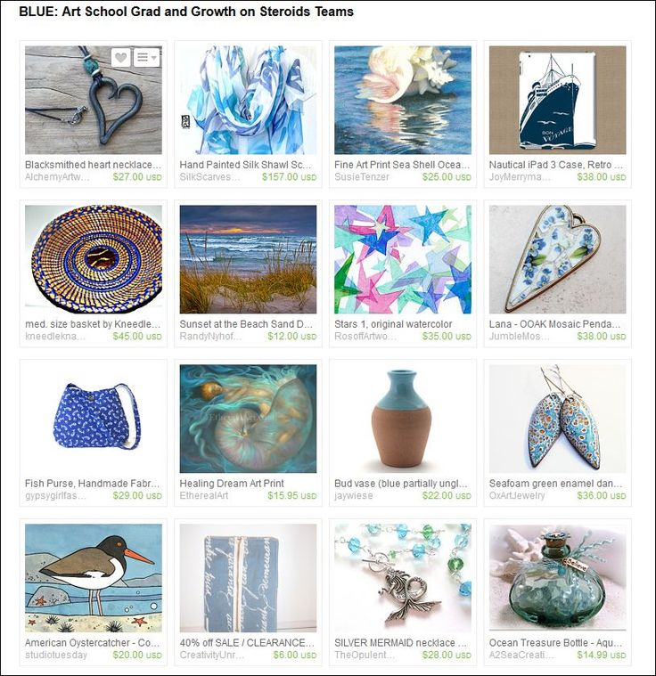 'Blue' Etsy treasury curated by Virginia Soskin from SweetchildJewelry on Etsy #etsy #sea #ocean #blue #beach #giftideas