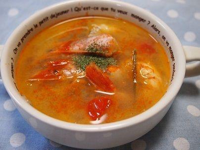 【超簡単~!タイ料理トムヤムクン風スープ】|とまとママのおいしいごはん