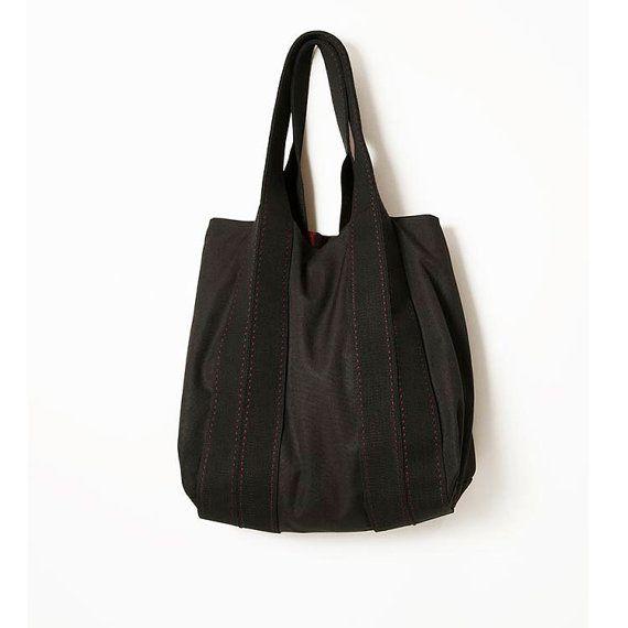 Beach Bag  Summer Gift idea  Black Bag  Tote by ElenaVandelliBags