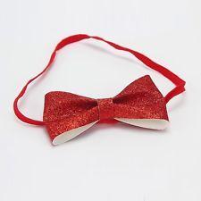 Red Bow Headband Hairband Bow Birthday Prop Glitter Princess Cakesmash Christmas