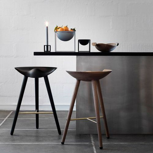 Tabouret de bar / design scandinave / en hêtre ML42 by Lassen