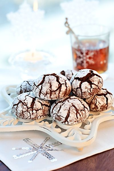 Popraskané čokoládové sušenky