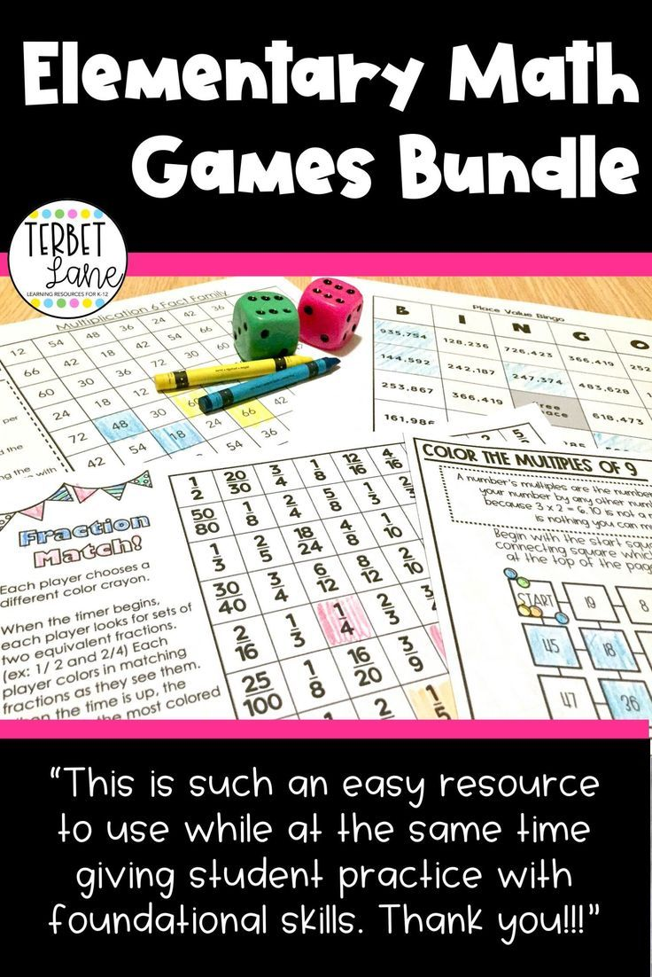 Math Games Bundle For Elementary In 2021 Math Games Elementary Math Games Fraction Games [ 1102 x 736 Pixel ]